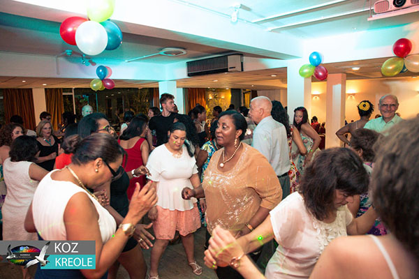Going with the beat: Guests get up and dance