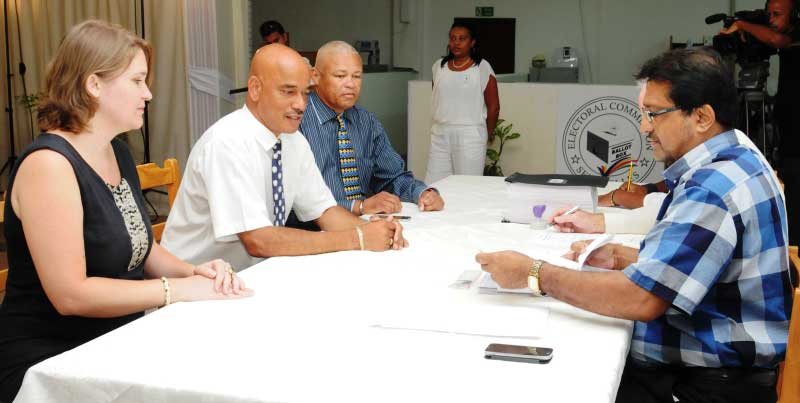 Candidate and running mate: David Pierre and Herve Anthony, Popular Democratic Movement