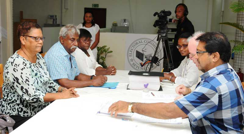 Candidate and running mate: Alexia Amesbury and Roy Fonseka, Seychelles Party for Social Justice & Democracy