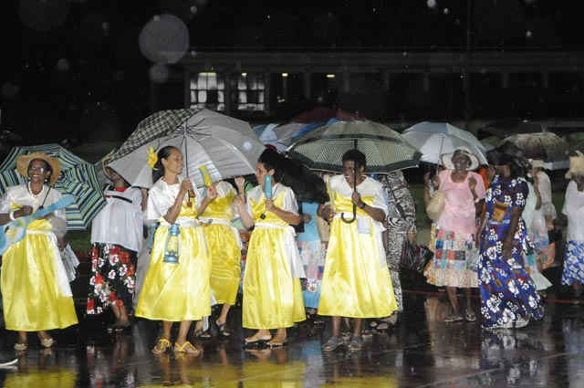 Spectacular: Entertainers defied the rain at Festival Kreol