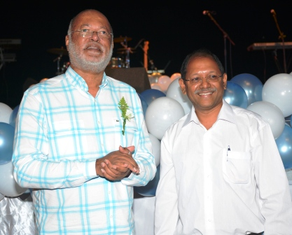 Confident:  Patrick Pillay and his presidential election running mate, Amed Afif