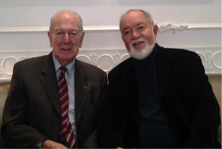 Sir James (right) with Dr. Olivier Giscard d'Estaing