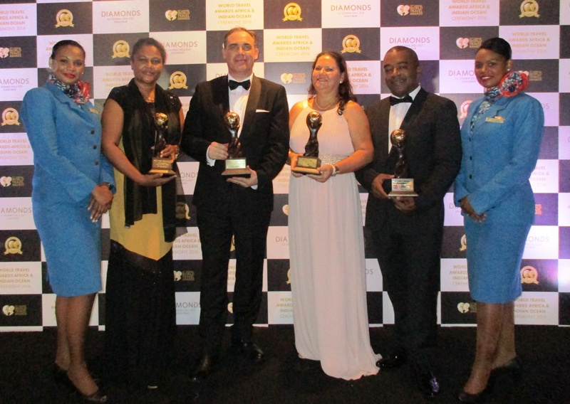 Winners: The Air Seychelles team received four top World Travel awards
