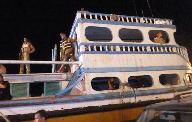 Seized: The Iranian dhow caught heading towards Seychelles