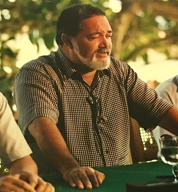 New dawn: James Mancham at a Press conference in Seychelles after returning from exile in 1992