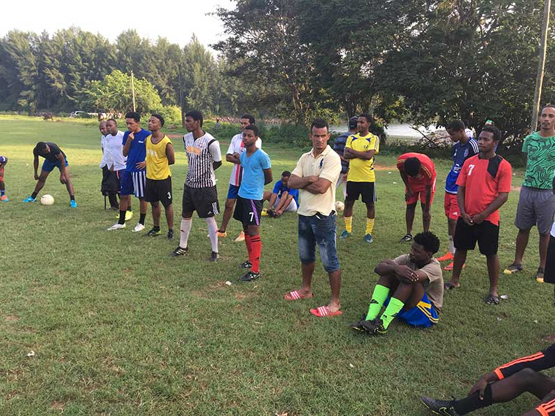 Training session: Members and trainers from the Real Maldives