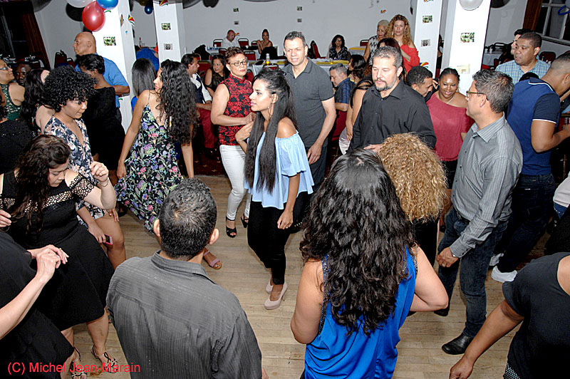 Fun time: Guests revel in the party atmosphere