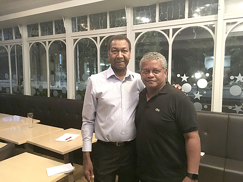 Meet-up: Wavel Ramkalawan with Lewis Betsy, publisher of Seychelles Life