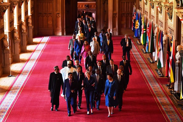 Historic venue: Mr Faure and other heads of State at Windsor Castle
