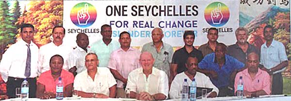 Aiming for change: The committee of One Seychelles at their inaugural meeting