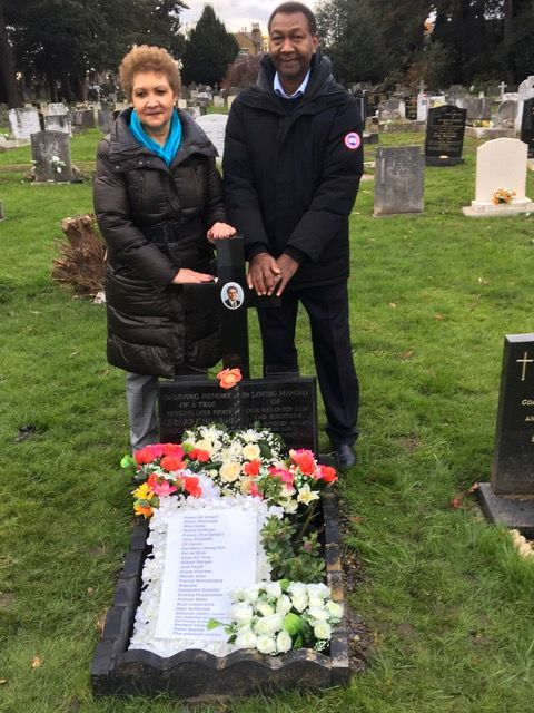 Tribute: Lewis and Julie Betsy who organised the Mass