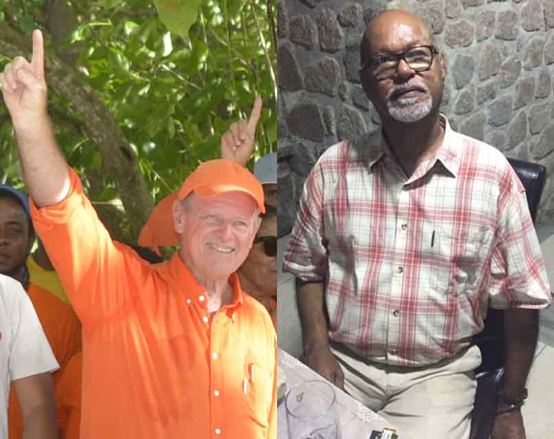 Left, Entente: Alain St Ange, Right, Manifesto: Patrick Pillay