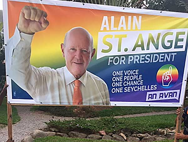 Contender: Alain St Ange for One Seychelles