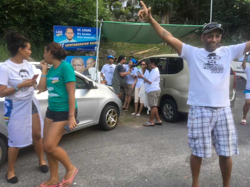 Joy on the streets: Opposition supporters celebrate