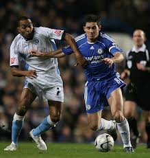 Big game: Kevin tussles with Chelsea's Frank Lampard