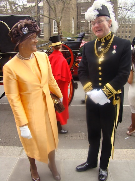 HONOUR: Marie-Pierre Lloyd, Seychelles High Commissioner, arrives to present her letters of Commission to the Queen