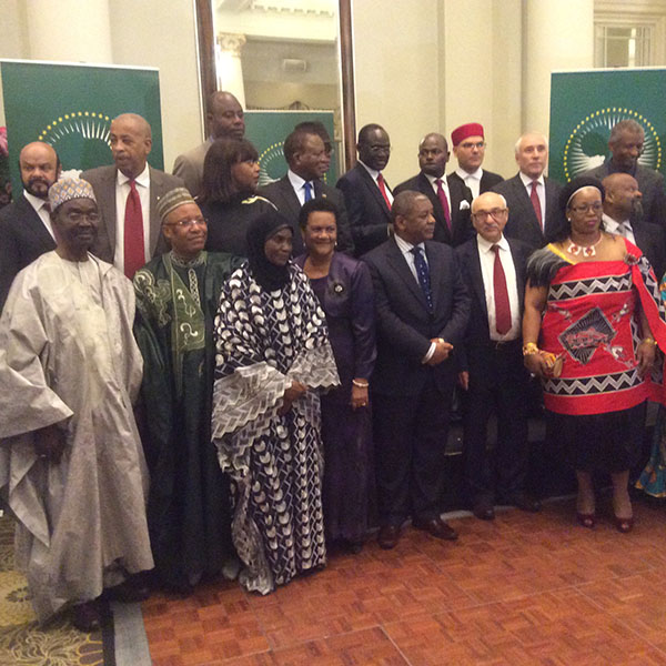 Key players: The UK representatives of the African Union