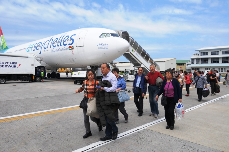 Celebration: Visitors arrive in Seychelles for the Chinese New Year