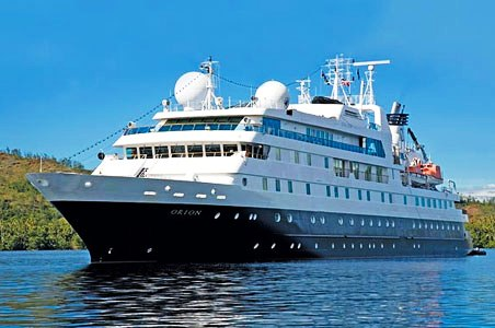 Luxurious: The Orion National Geographic cruise ship